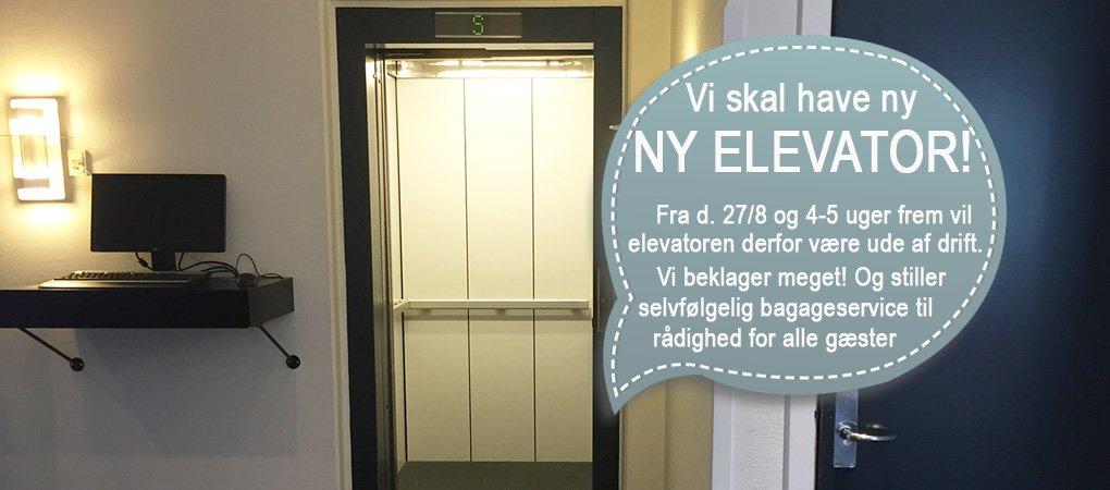 Vi udskifter vores elevator fra d. 27. august